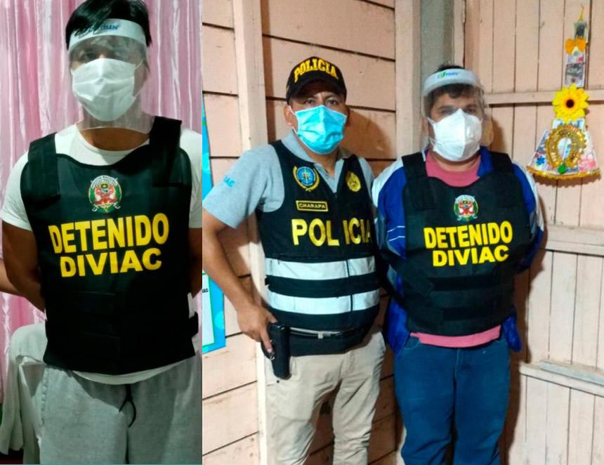 """Presuntos integrantes de la organización criminal """"Los Hostiles II"""" (Foto: Mininter)."""