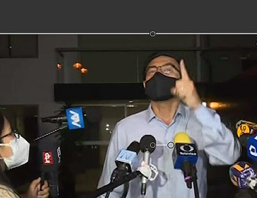 Martín Vizcarra en declaraciones a la prensa.