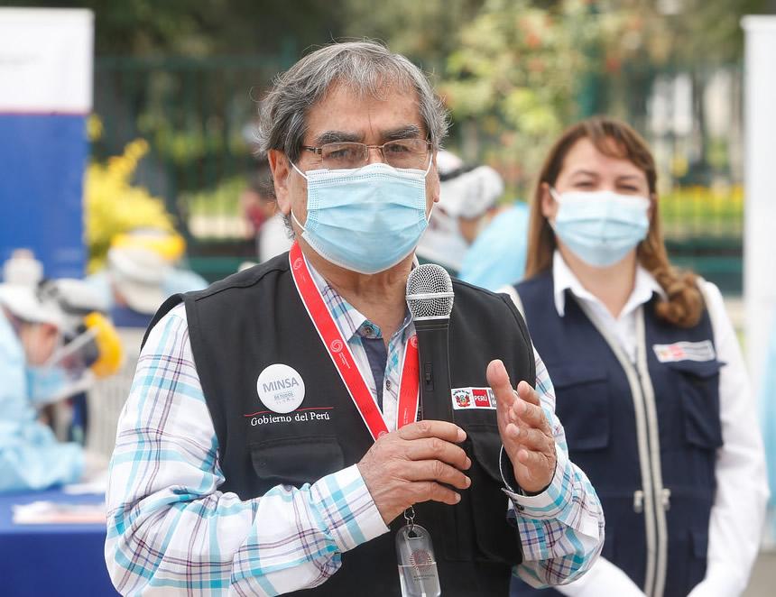 Ministro de Salud, Oscar Ugarte (Foto: Minsa).
