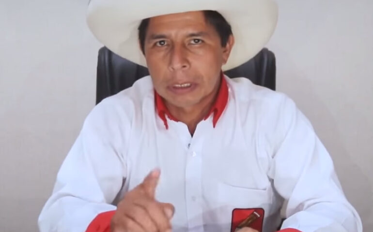Pedro Castillo Terrones (Foto: Captura video).