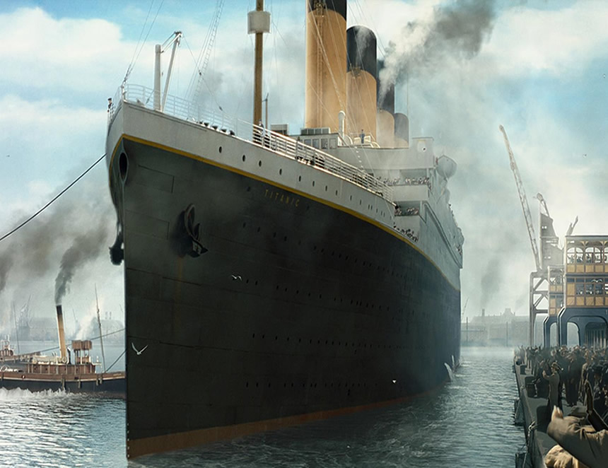 Representaciòn del Titanic Foto: TitanicMovie
