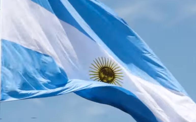 Bandera Argentina .