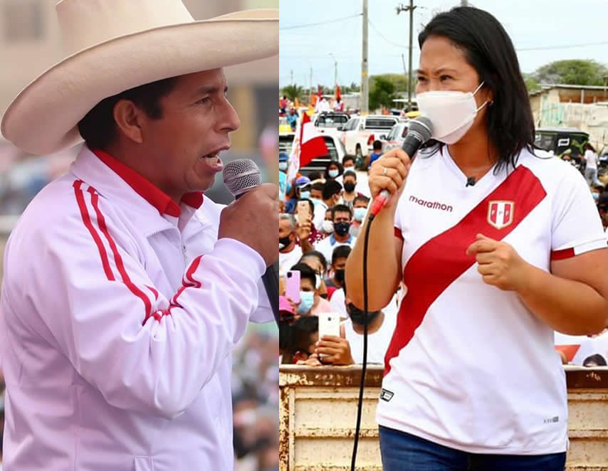 Julio Castillo y Keiko Fujimori en discurso