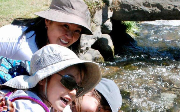 Keiko Fujimori y sus hijas
