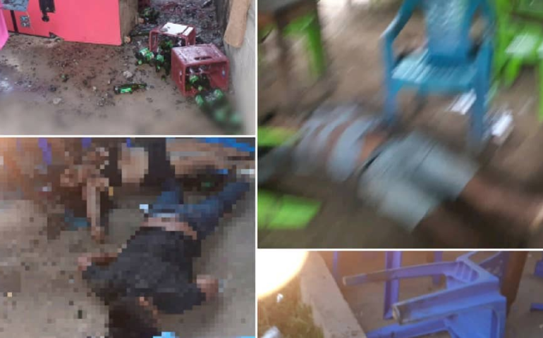 imágenes de la matanza de mas de quince personas en el poblado de San Miguel del Ene (Foto: Atlantis Radio Y Televisión).