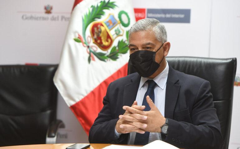 Ministro del Interior, José Elice (Foto: Mininter).