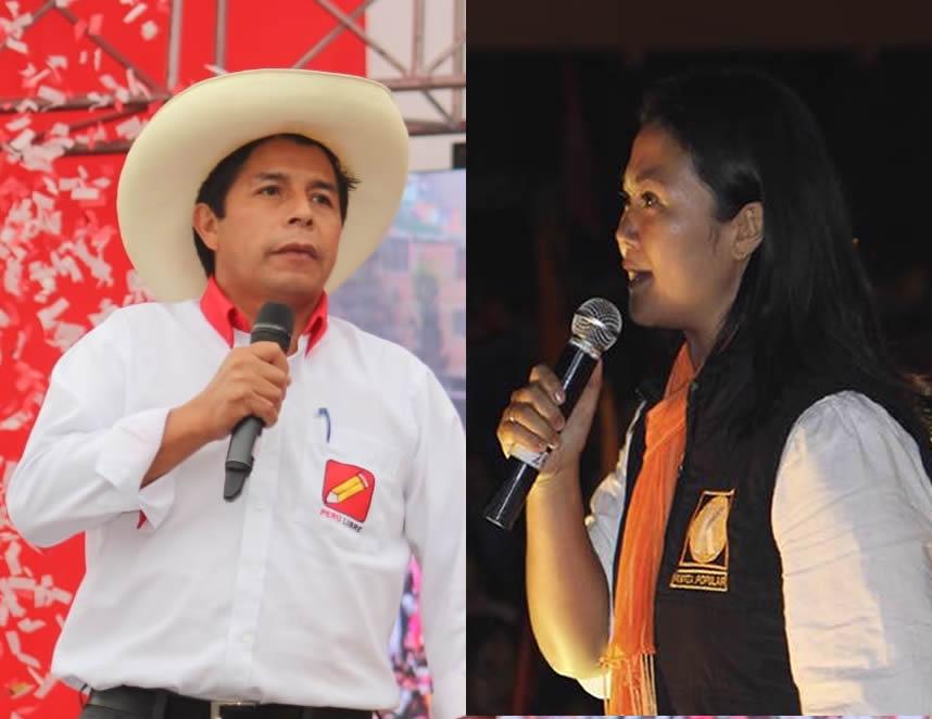 Pedro Castillo y Keiko Fujimori (Facebook).
