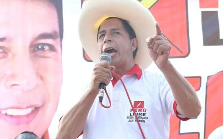 Pedro Castillo en campaña (Foto: Facebook)