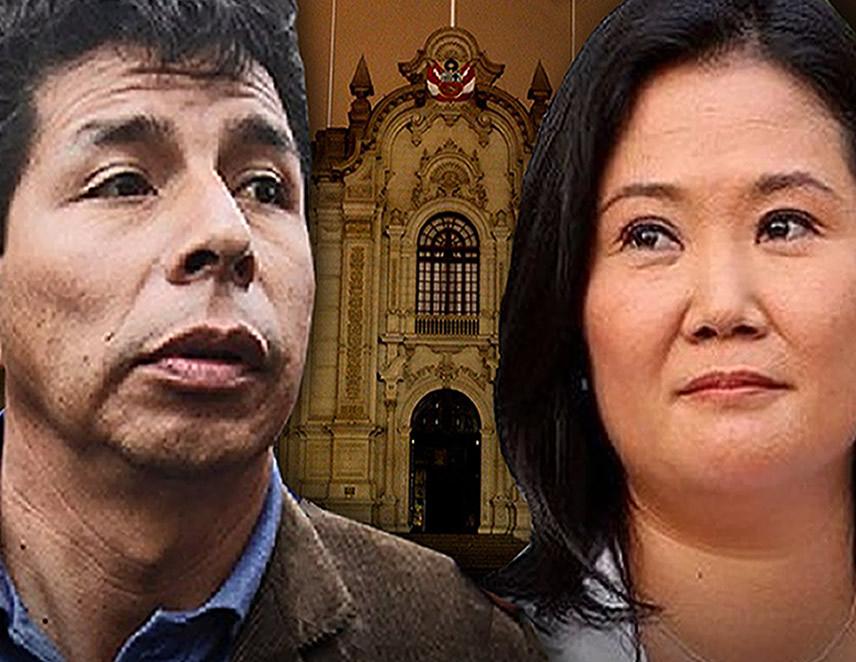 Pedro Castillo y Keiko Fujimori (Foto: agendaapais.com).