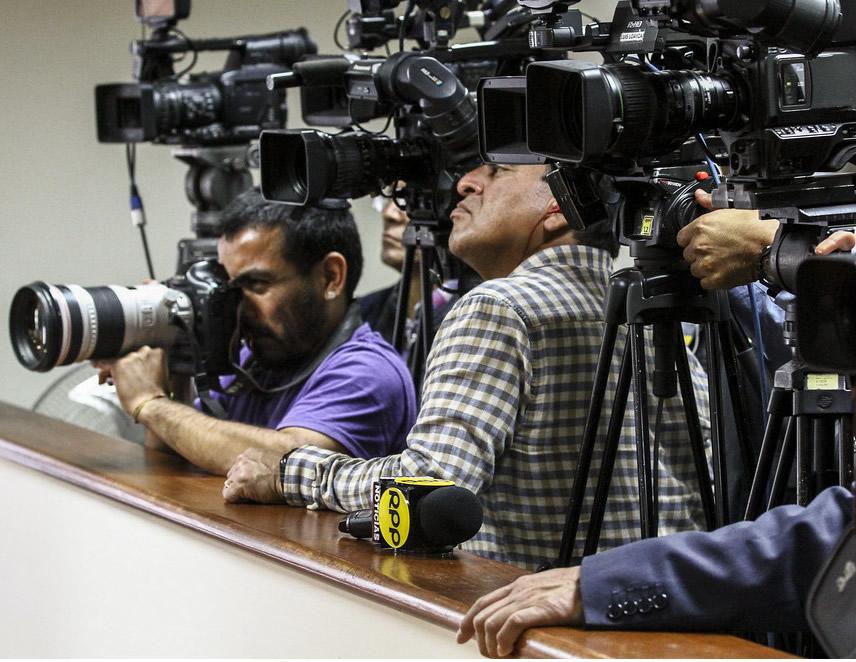 Periodistas en pleno trabajo (Foto: Congreso de la República).