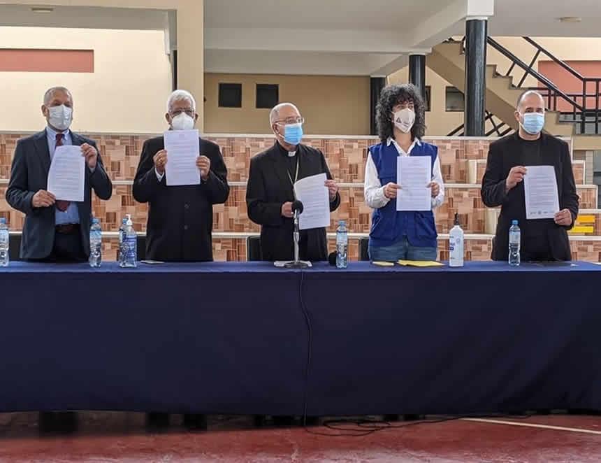 Pedro Castillo y Keiko Fujimori participarán el lunes 17 en la proclama ciudadana (Foto: Twitter).