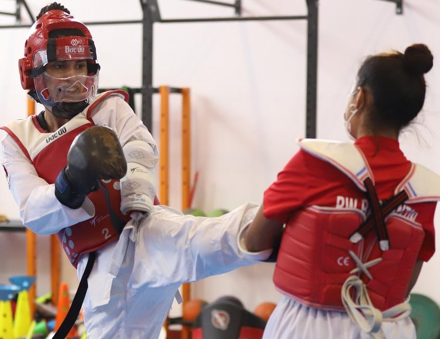 Angélica Espinoza en competencia (Foto: IPD).