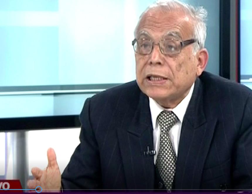Aníbal Torres en plena entrevista (Captura: Canal N)