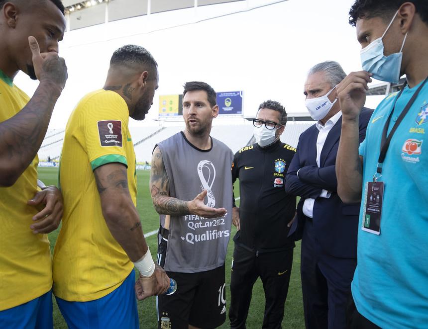 Momentos de tensión tras suspensión del Brasil-Argentina (Foto: CBF).