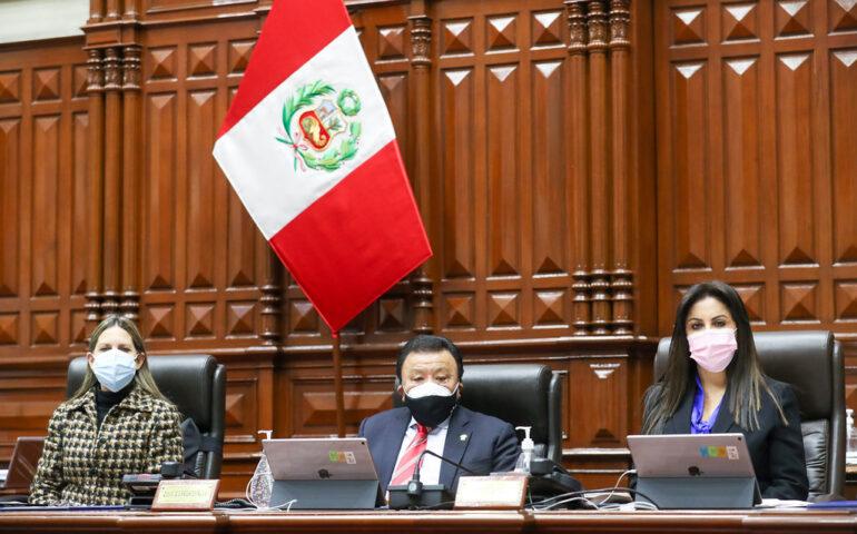 Mesa Directiva del Congreso en plena sesiòn (Foto: Congreso de la Repùblica).