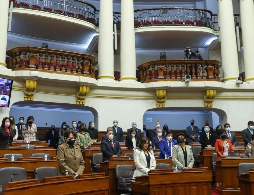 El Congreso guardó hoy un minuto de silencio por los fallecidos en la colisión de dos embarcaciones fluviales en el Huallaga (Foto: Congreso de la República).