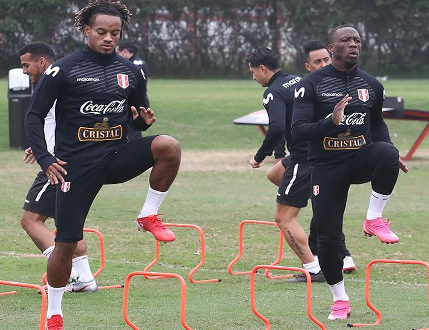 Entrenamiento en Lima de Perú antes de enfrentar a Brasil (Foto: FPF).