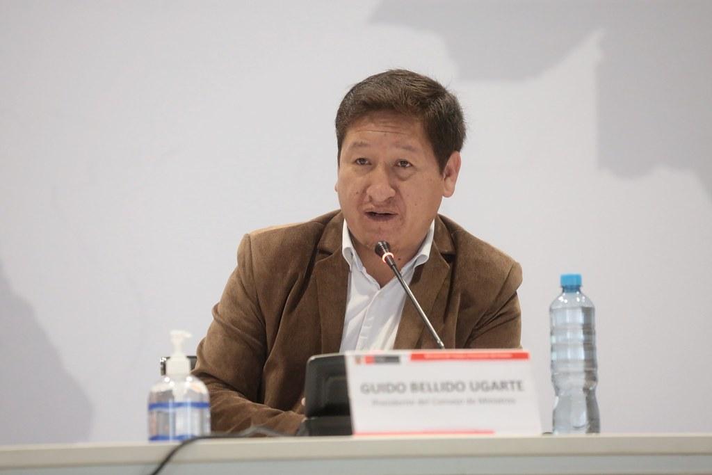 Presidente del Consejo de Ministros, Guido Bellido (Foto: PCM)