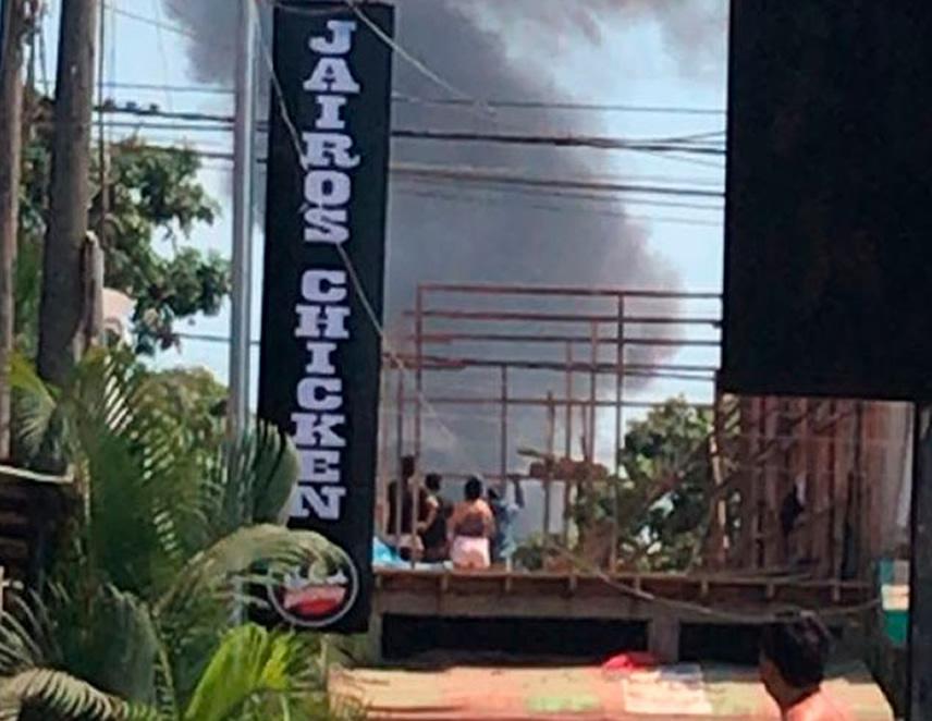 Incendio en Pucallpa (Captura diario Impetu).