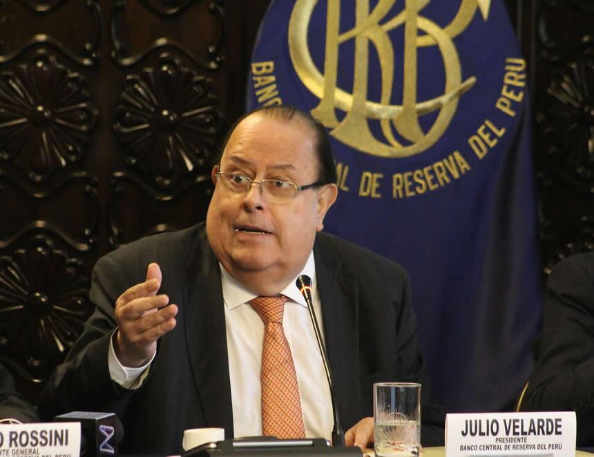 Presidente del Banco Central de Reserva del Perú, Julio Velarde (Foto: BCRP).