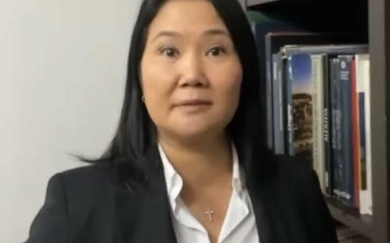 Keiko Fujimori en mensaje en video