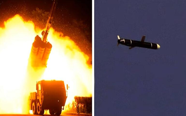 Corea del Norte lanzó misiles de crucero de largo alcance (Captura video K KCNA)