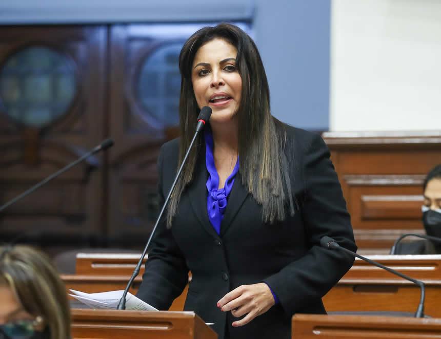 Patricia Chirinos (Foto: Congreso de la República).