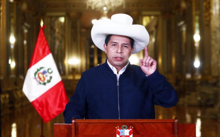 Pedro Castillo brinda su primer mensaje a la Nación (Foto: Presidencia de la República).