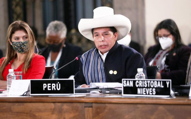 Presidente Pedro Castillo pronuncia discurso ante la VI Cumbre de la CELAC (Foto: Presidencia de la República).
