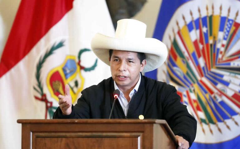 Pedro Castillo en la OEA (Foto: Presidencia de la República).