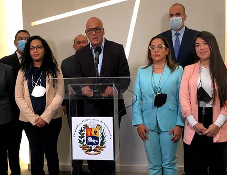 Jorge Rodríguez, jefe de la delegación venezolana en la mesa de diálogo en México (Foto: Facebook).