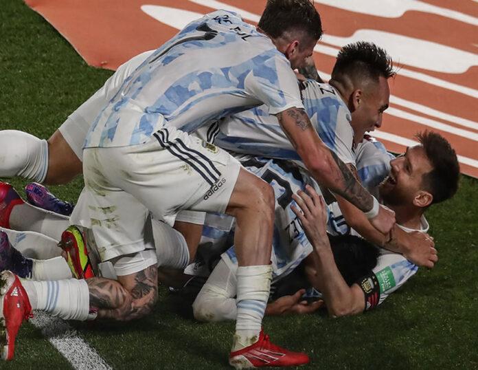 Argentina goleó 3 a 0 a Uruguay (Foto: Conmebol).