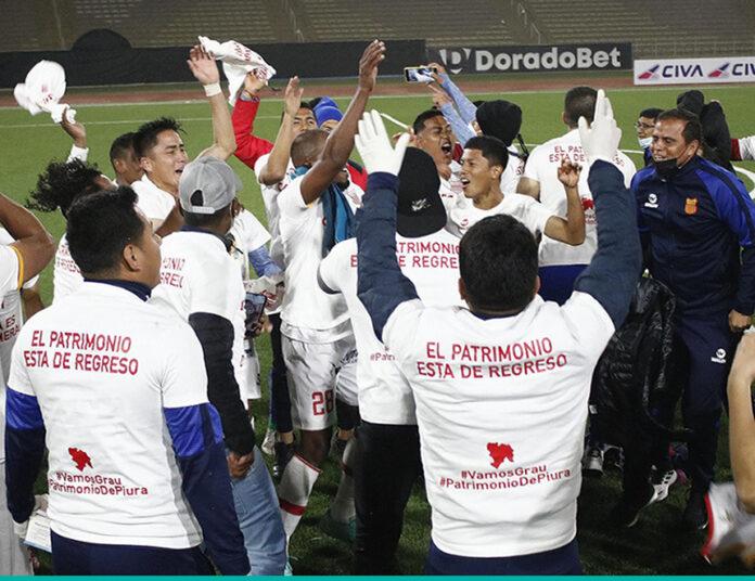 Atlético Grau de Piura celebra (Foto: liga1.pe).