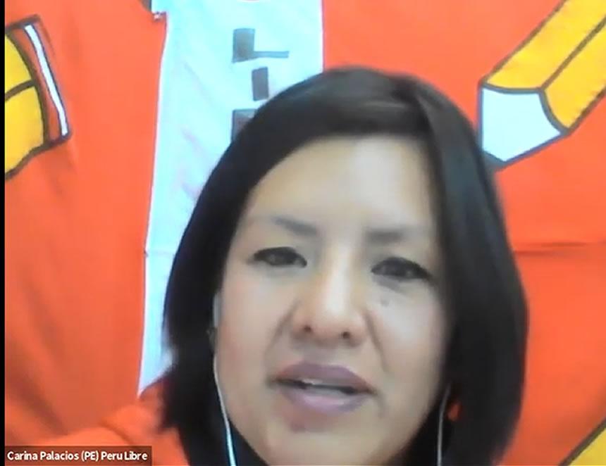 Carina Palacios (Captura: Youtube).
