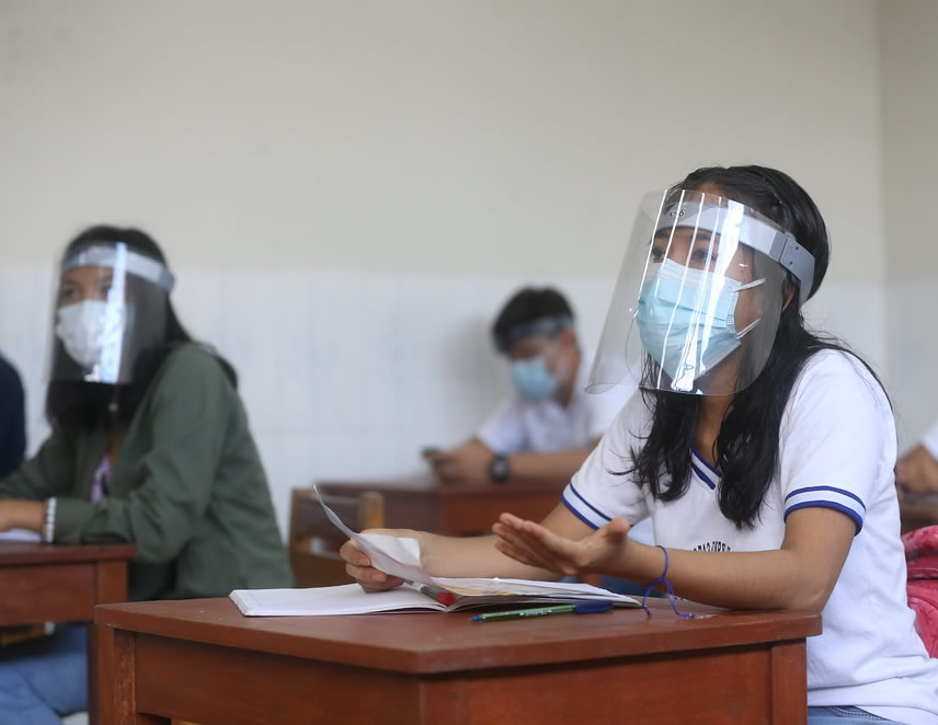 Clases semipresenciales por la pandemia (Foto: Minedu).