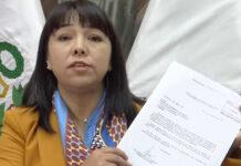 Mirtha Vásquez y el Proyecto de reforma sobre cuestiòn de confianza y la vacancia presidencial (Foto: Congreso Facebook).