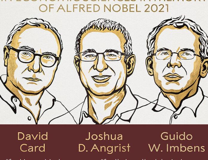 Galardonados con el Nobel de Economía 2021 (Imagen: Nobel Prize)