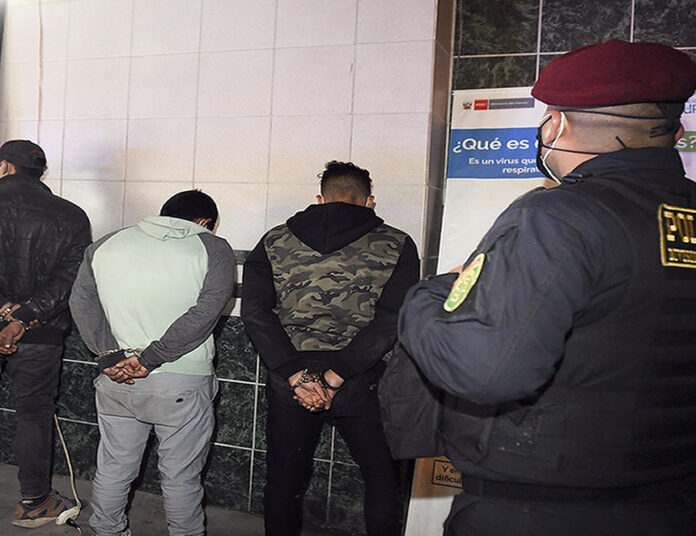 Detenidos por la PNP (Foto referencial Mininter)