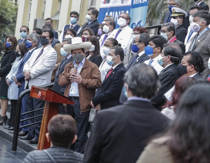 Presidente Pedro Castillo en la ceremonia por el Día de la Medicina Peruana (Foto: Presidencia de la República).