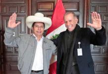 Presidente Pedro Castillo junto a Ricardo Belmont, en Palacio de Gobierno (Foto: Palacio de Gobierno).