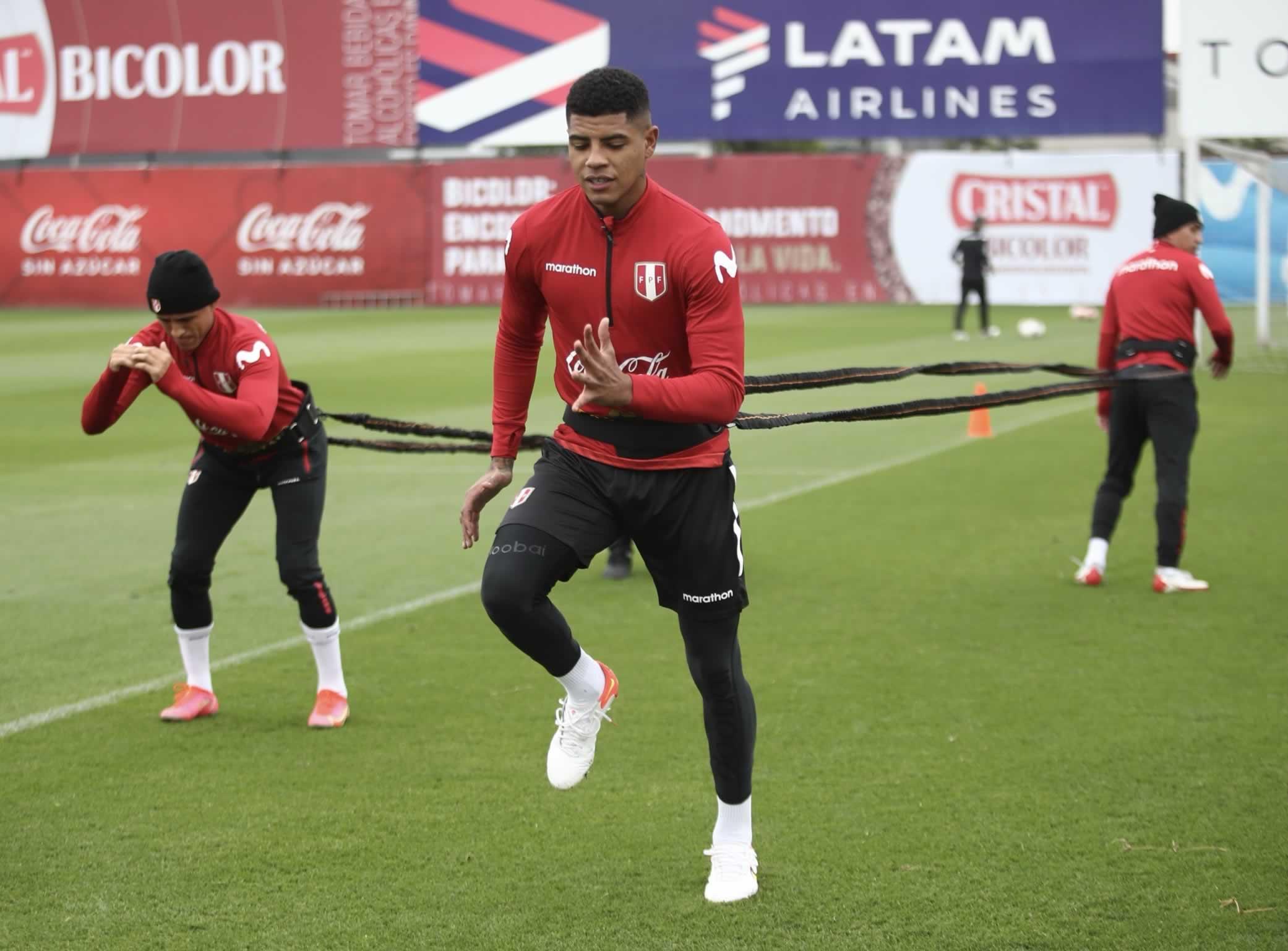 Selección nacional queda lista para el jueves ante Chile (Foto: FPF).